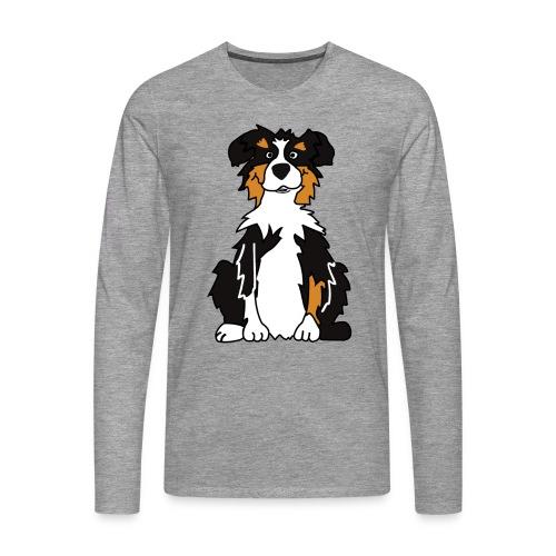 Black Tri Australian Shepherd - Männer Premium Langarmshirt
