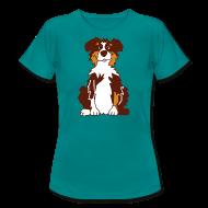 T-Shirts ~ Frauen T-Shirt ~ Red Tri Australian Shepherd vh