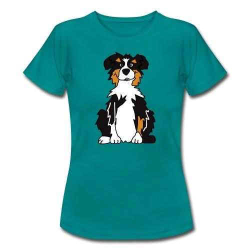 Black Tri Australian Shepherd vh - Frauen T-Shirt