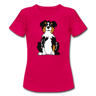 T-Shirts ~ Frauen T-Shirt ~ Black Tri Australian Shepherd vh