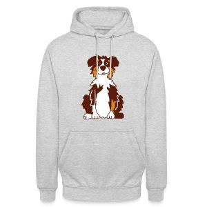Red Tri Australian Shepherd vh - Unisex Hoodie