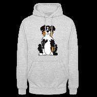 Pullover & Hoodies ~ Kapuzenpullover Unisex ~ Black Tri Australian Shepherd vh