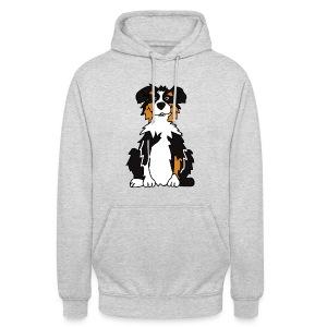 Black Tri Australian Shepherd vh - Unisex Hoodie