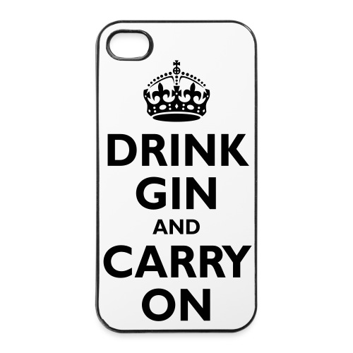 IPhone 4/4s Case Drink Gin - iPhone 4/4s Hard Case
