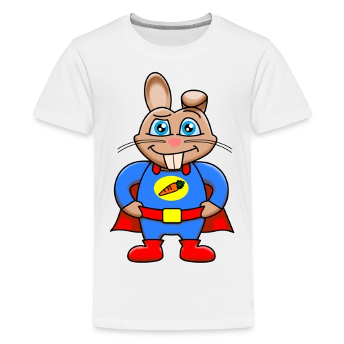 Super Kaninen T-shirt - Premium-T-shirt tonåring