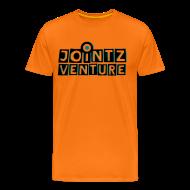 T-Shirts ~ Männer Premium T-Shirt ~ Jointz Venuter men logo schwarz/smaragdgrün