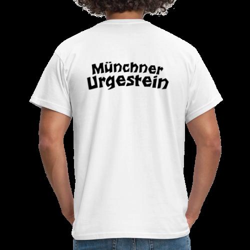 Münchner Urgestein T-Shirt (Weiß/Schwarz) Rücken - Männer T-Shirt