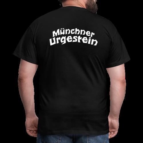 Münchner Urgestein T-Shirt (Schwarz/Weiß) Rücken - Männer T-Shirt