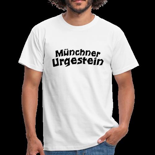 Münchner Urgestein T-Shirt (Weiß/Schwarz) - Männer T-Shirt
