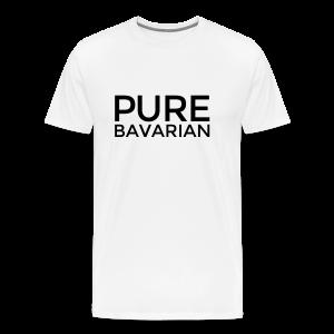 Pure Bavarian T-Shirt (Herren Weiß) - Männer Premium T-Shirt