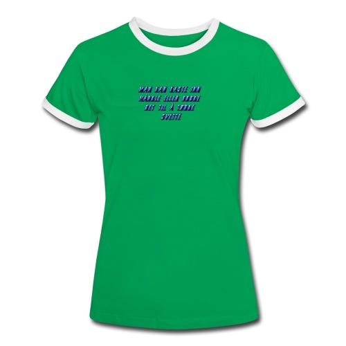 hånkle - Kontrast-T-skjorte for kvinner