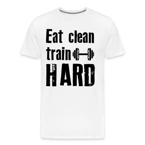 Classic T-Shirt - Eat Clean Train Hard - Black - Men's Premium T-Shirt