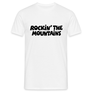 Rockin' the Mountains T-Shirt (Herren/Weiß) - Männer T-Shirt