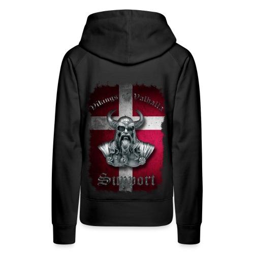 Dannebrog - hoodie (dame) - Dame Premium hættetrøje