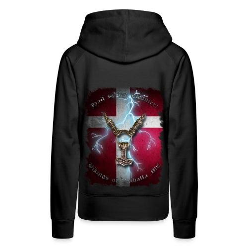 Hail to the hammer Dannebrog - hoodie (dame) - Dame Premium hættetrøje