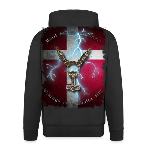 Hail to the hammer Dannebrog - hoodie - Herre premium hættejakke