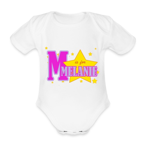 M is for Melanie Bodysuit - Organic Short-sleeved Baby Bodysuit