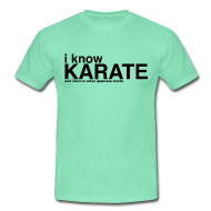 T-shirts ~ Mannen T-shirt ~ T-shirt I know Karate
