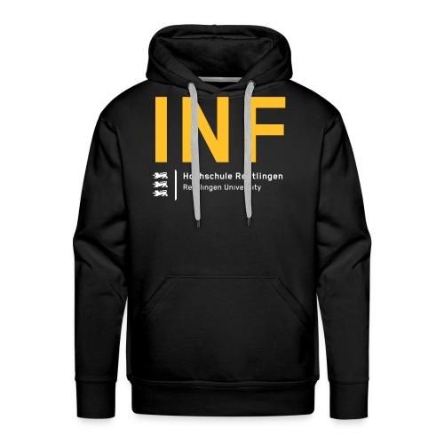 INF Hoodie schwarz - Männer Premium Hoodie