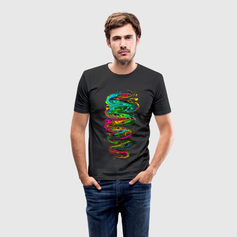Color your life! Rainbow, Music, Trance, Techno, Goa T-Shirts - Men's Slim Fit T-Shirt