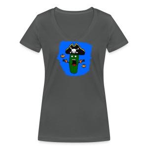 Seegurke - Frauen Bio-T-Shirt mit V-Ausschnitt von Stanley & Stella