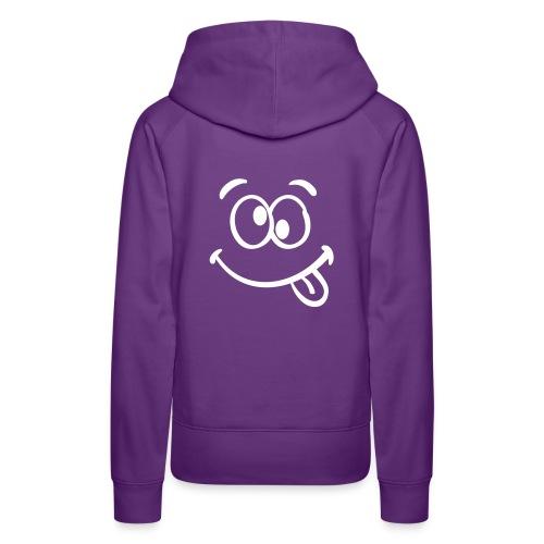 *SMILEY* Purple Hoodie For Women - Women's Premium Hoodie