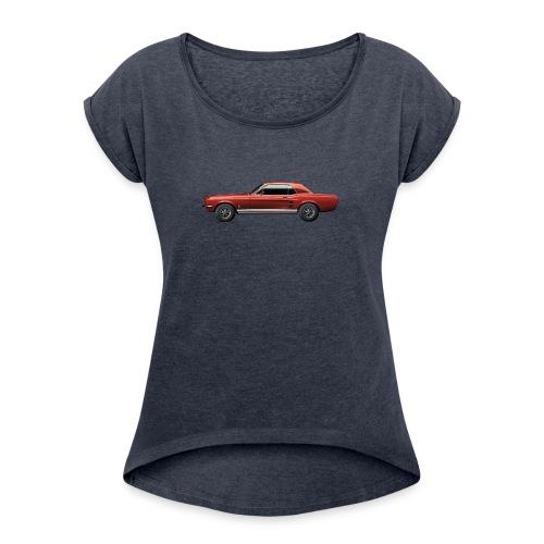 Mustang Coupé - Frauen T-Shirt mit gerollten Ärmeln