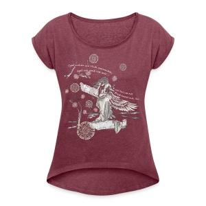 Egal wie weit weg… - Frauen T-Shirt mit gerollten Ärmeln