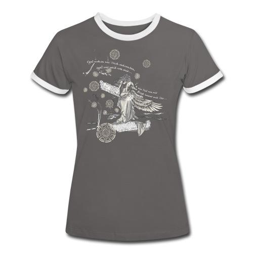 Egal wie weit weg… - Frauen Kontrast-T-Shirt