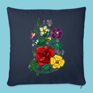 Sofa pillow cover Flowers N°3 - Sofa pillow cover 44 x 44 cm