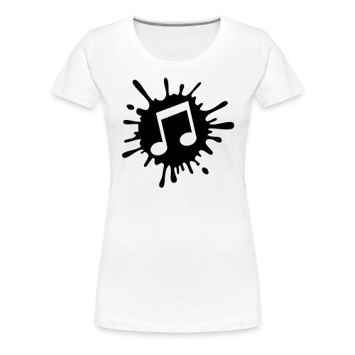 Music Note Splatter T-Shirt - Women's Premium T-Shirt