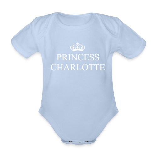 Gin O'Clock Princess Charlotte Baby Vest - from the official Gin O'Clock shop. - Organic Short-sleeved Baby Bodysuit
