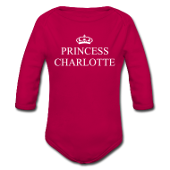 Baby Bodysuits ~ Baby One-piece ~ Gin O'Clock Princess Charlotte Baby LS Vest - from the official Gin O'Clock shop.