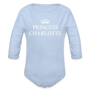 Gin O'Clock Princess Charlotte Baby LS Vest - from the official Gin O'Clock shop. - Organic Longsleeve Baby Bodysuit