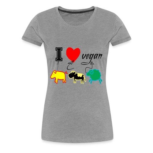 i love vegan - Maglietta Premium da donna