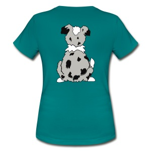 Blue Merle Australian Shepherd Motiv auf der Rückseite - Frauen T-Shirt