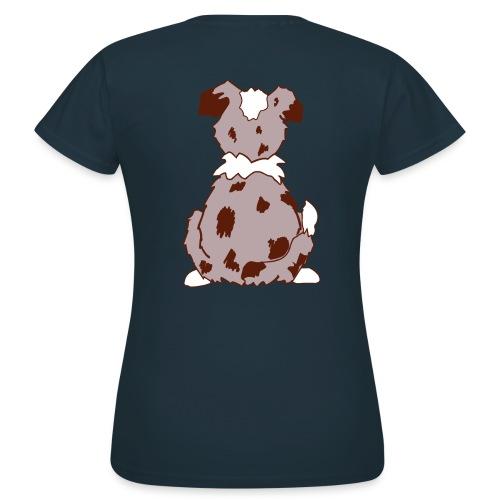 Red Merle Australian Shepherd Motiv auf der Rückseite - Frauen T-Shirt