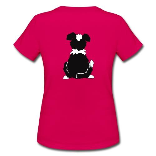Black Tri Australian Shepherd Motiv auf der Rückseite - Frauen T-Shirt