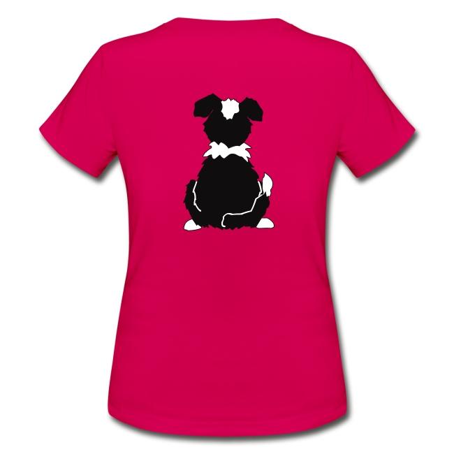Black Tri Australian Shepherd Motiv auf der Rückseite