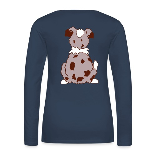 Red Merle Australian Shepherd Motiv auf der Rückseite - Frauen Premium Langarmshirt