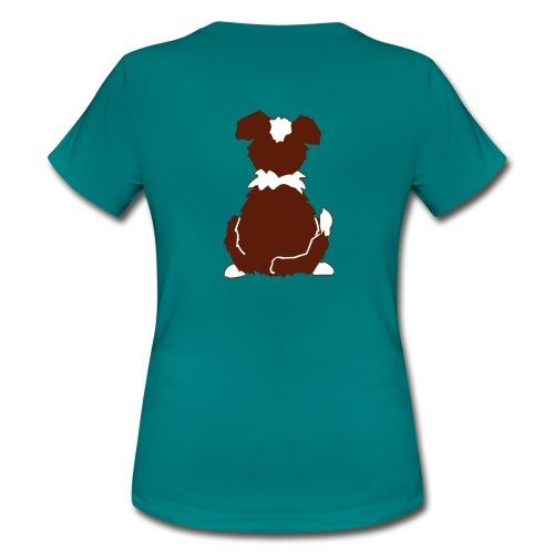 Red Tri Australian Shepherd Motiv auf der Rückseite - Frauen T-Shirt