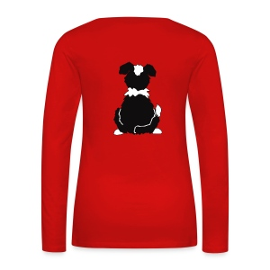 Black Tri Australian Shepherd Motiv auf der Rückseite - Frauen Premium Langarmshirt