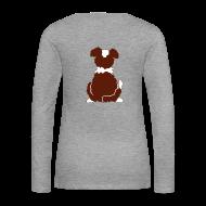 Langarmshirts ~ Frauen Premium Langarmshirt ~ Red Tri Australian Shepherd Motiv auf der Rückseite