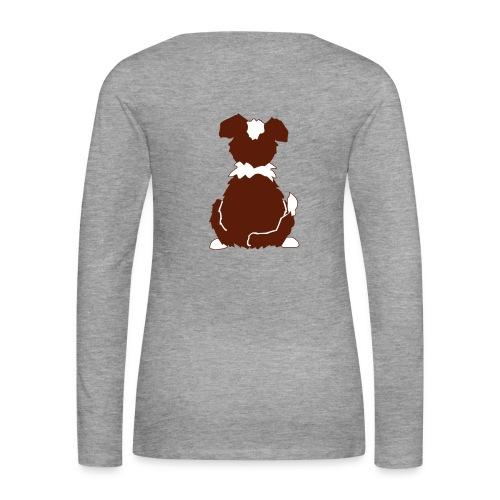 Red Tri Australian Shepherd Motiv auf der Rückseite - Frauen Premium Langarmshirt