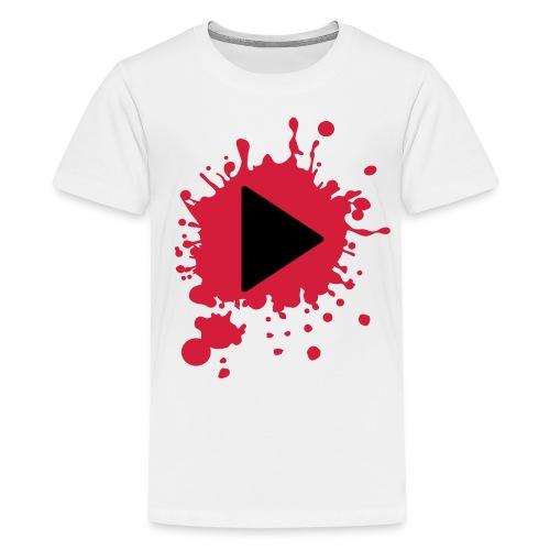 t-shirt klodder verf play butten mannen/kinderen - Teenager Premium T-shirt
