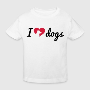 Fancy I Love Dogs T-shirts - Ekologisk T-shirt barn
