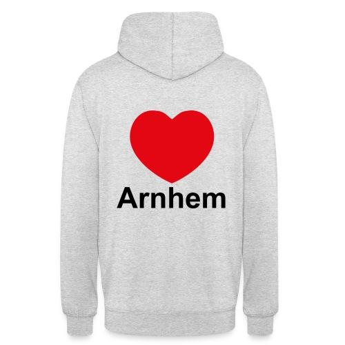 'Ik hou van Arnhem' trui met capuchon  - Hoodie unisex