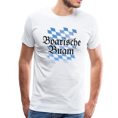 Boarische Buam Bayern T-Shirt (Herren/Premium) - Männer Premium T-Shirt