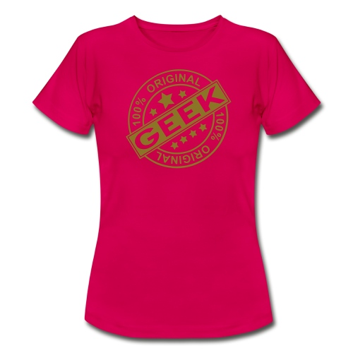 Womens Authentic geek t shirt. - Women's T-Shirt