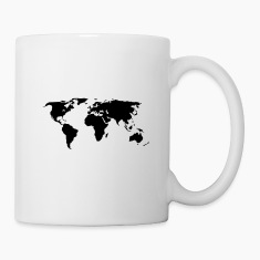 world map Mugs & Drinkware